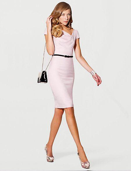 Robe fourreau le château rose et escarpins plateforme | My Style ...