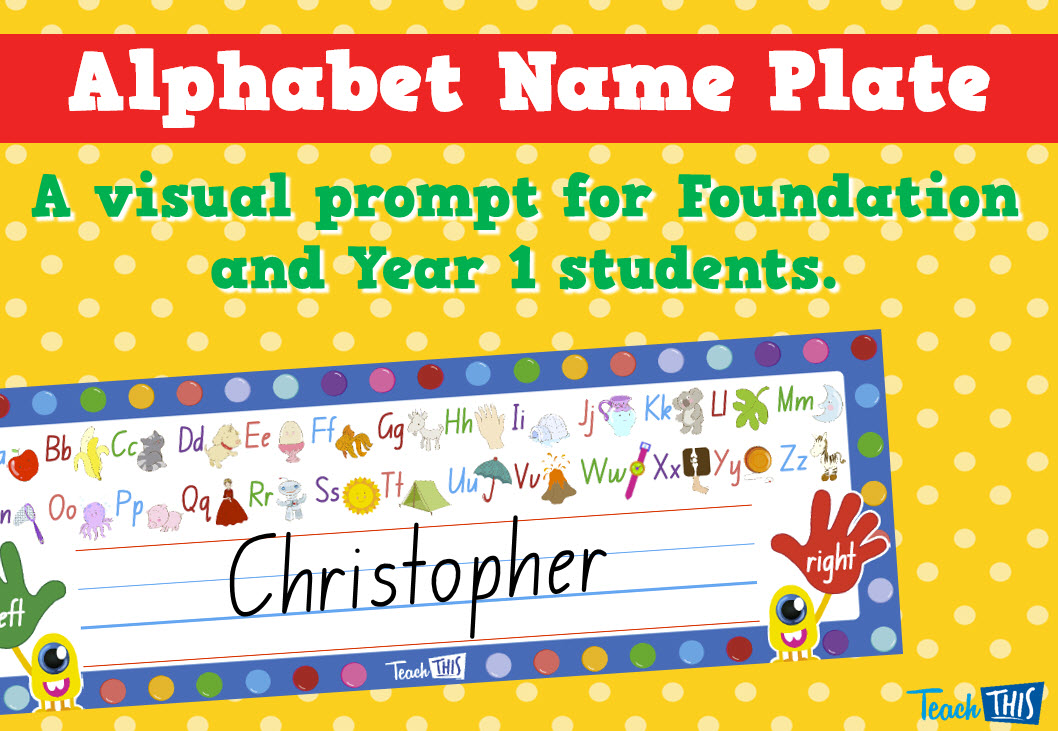 Alphabet Name Plate - Editable | classroom ideas | Pinterest ...
