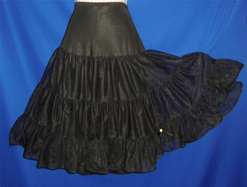 Found in my store.. http://stores.ebay.com/My-Evergreen-Closet Sexy Vintage Henson Black Tiered Half Slip Peticoat  6  S-M #Henson #HalfSlips