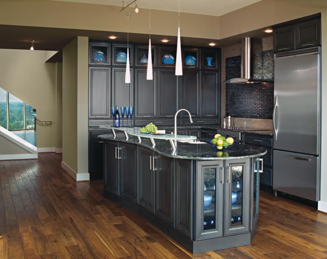 Dark Grey Kitchen Cabinets Decora Cabinetry Stylish Kitchen Dark Grey Kitchen Grey Kitchen Designs