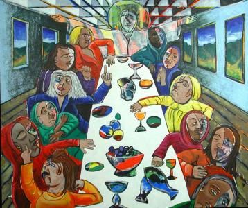 The Last Supper Greeting Card For Sale By Rollin Kocsis Abstract