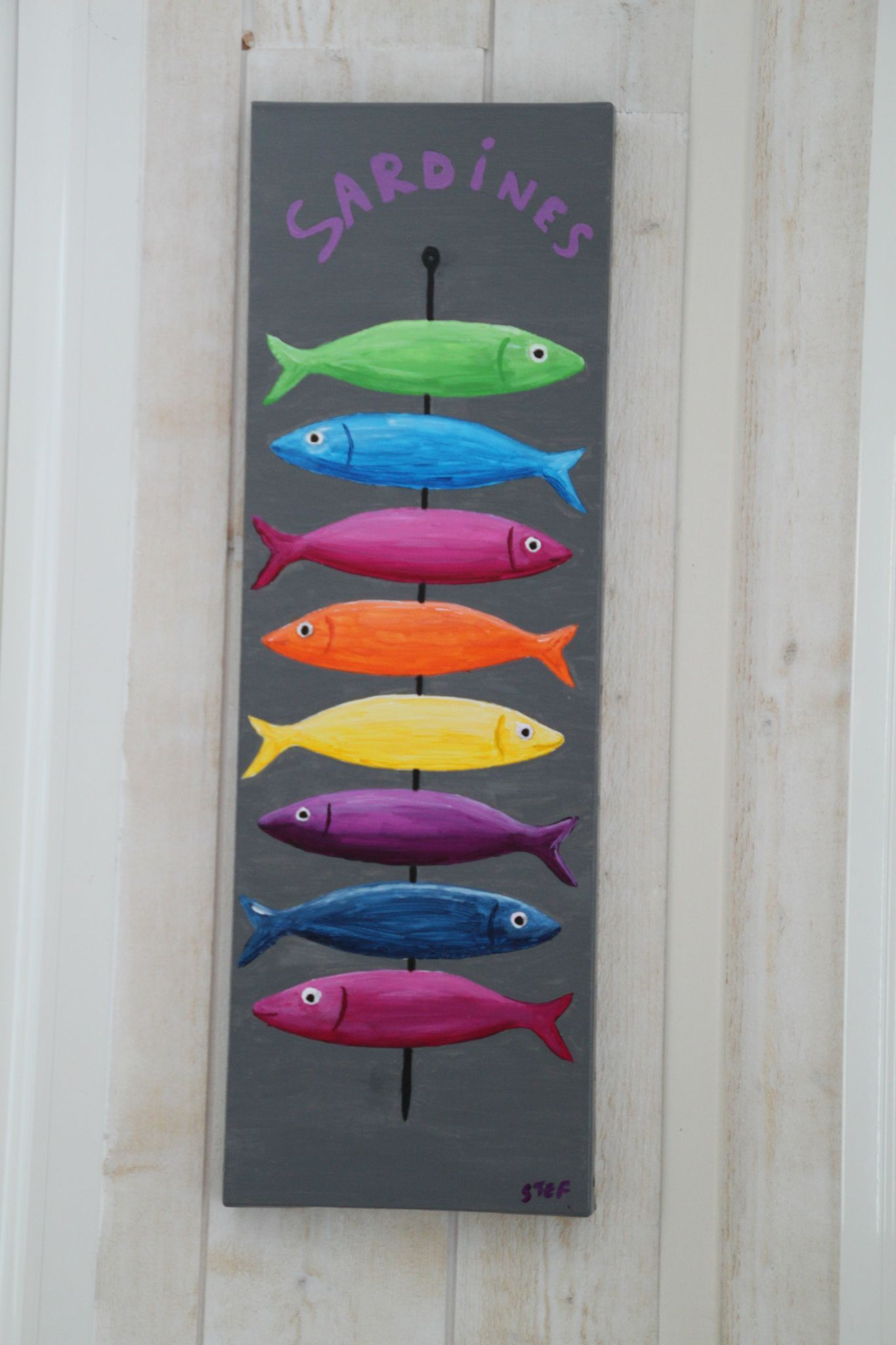 Comment Encadrer Une Toile les petits poissons de steph! comment faire un cadre sur