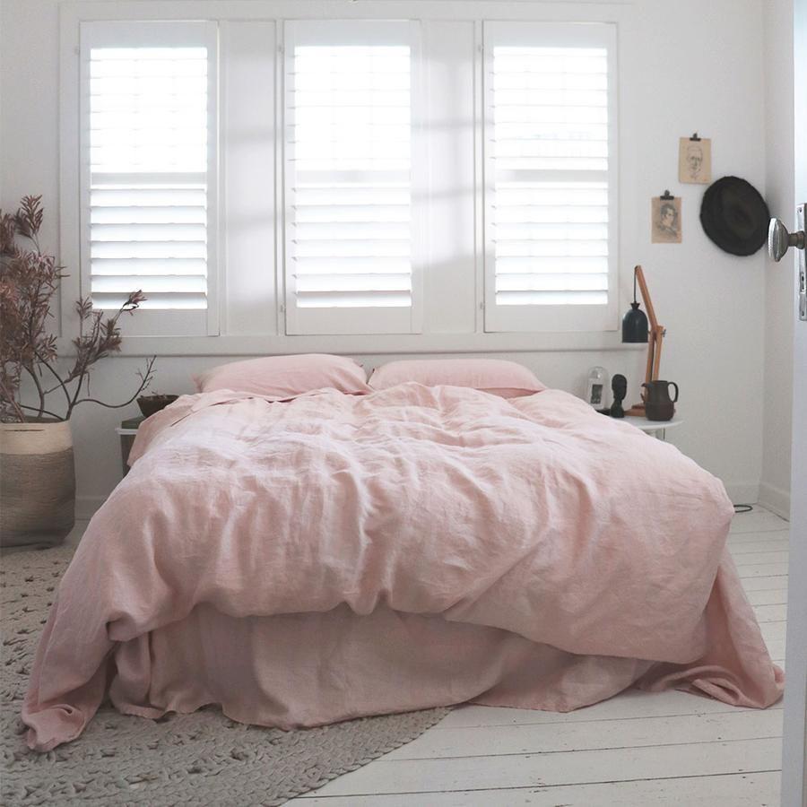 Best Blush Linen Sheets Hotel Bedroom Design Cheap Bed 400 x 300