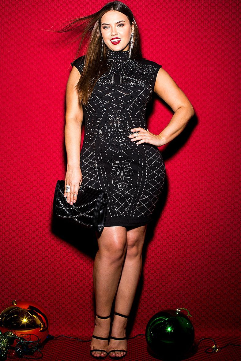 Plus Size Stud Bodycon Dress Stitch Fix Style Pinterest