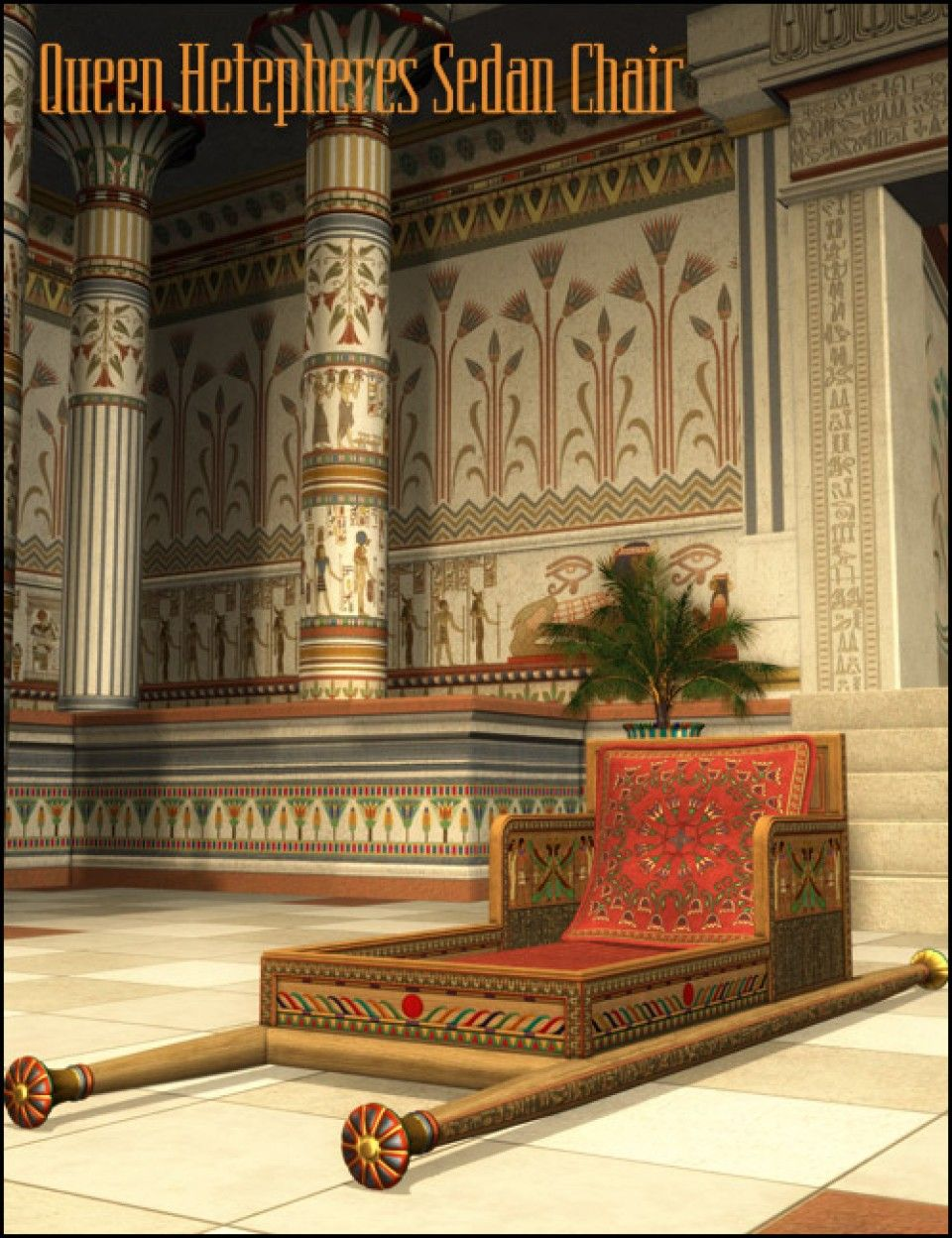Ancient egyptian furniture - Queen Hetepheres Sedan Chair In Places And Things Props Furniture Models By Daz