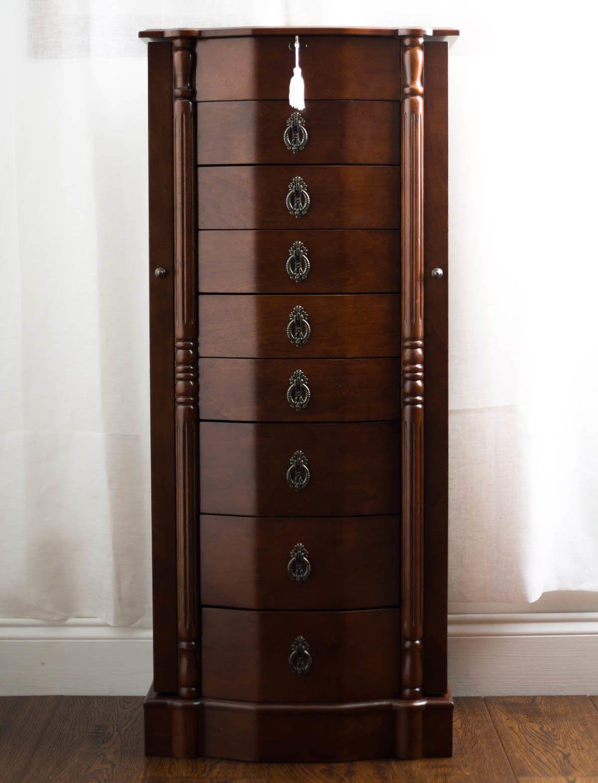 40+ Worthington antique walnut standing mirror jewelry armoire info