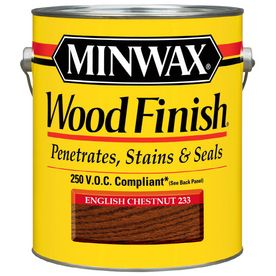 Minwax�Gallon English Chestnut Wood Finish $30.00 for a gallon = Kitchen Cabinet stain Have to buy Poly too to seal...