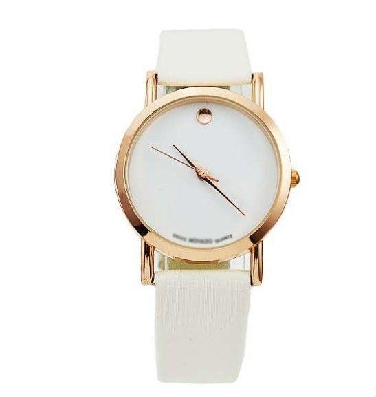 Gold Luxury Leather Quartz Watches Wrist Watch Womens
