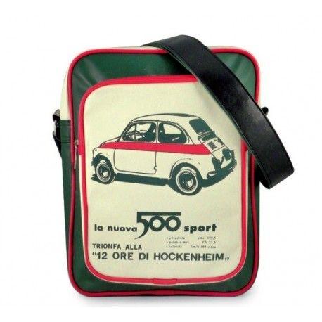 Sac Fiat 500 tricolore aux couleurs de l'Italie . Idéal en fourre