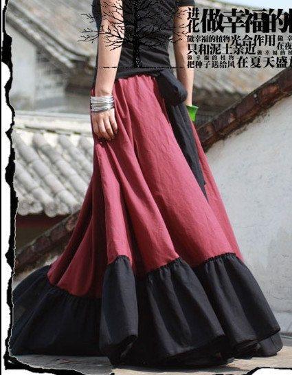 Red Long skirt fashon skirts women Skirts by fashiondress6 ...