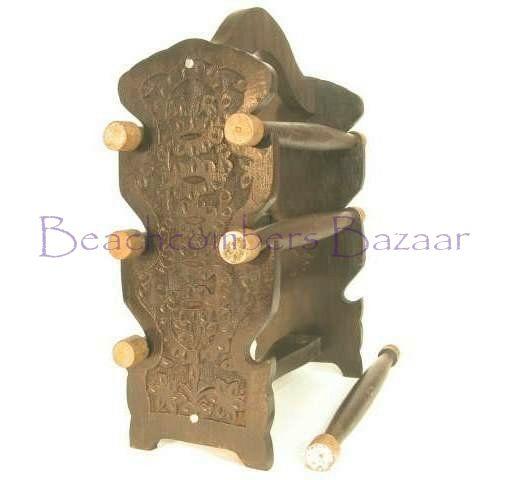 Homemade Jewelry Displays   ... Bangle Stand Bracelet Display BAR Handmade Wooden Jewelry Rack   eBay