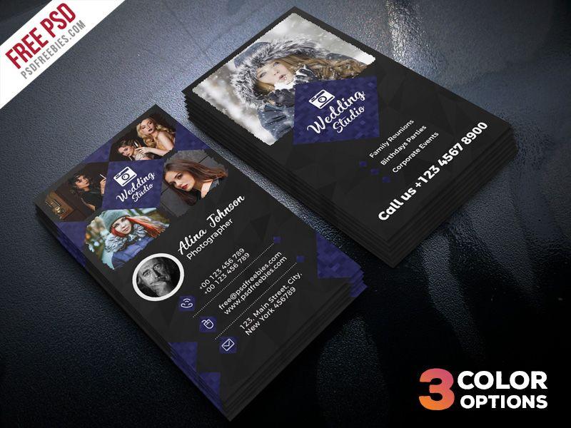 Photographer Business Card Template PSD Set | Photographer business ...