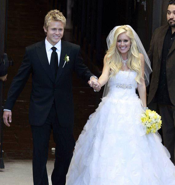 Celebrity Wedding Gown Heidi Montag Dress