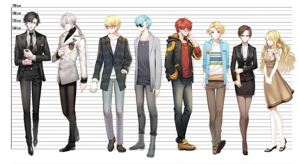 166 Cm Anime Characters : Jumin han cm zen yoosung valentine