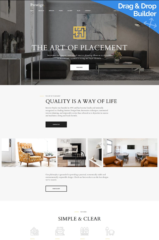 Best Interior Design Moto Cms 3 Template 66413 With Images