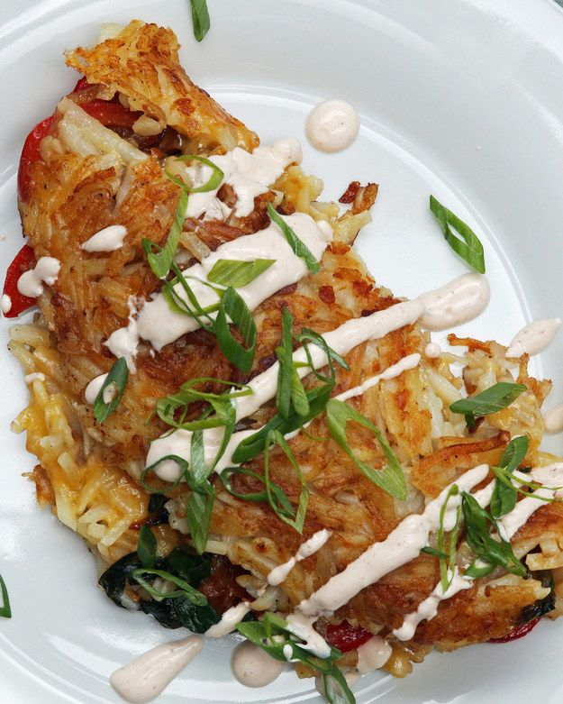 Stuffed Hashed Brown Omelette