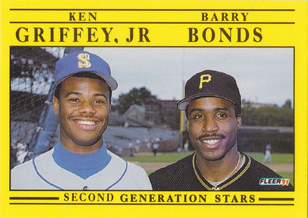 Ken Griffey Jr Barry Bonds Baseball Cards Mlb Baseball