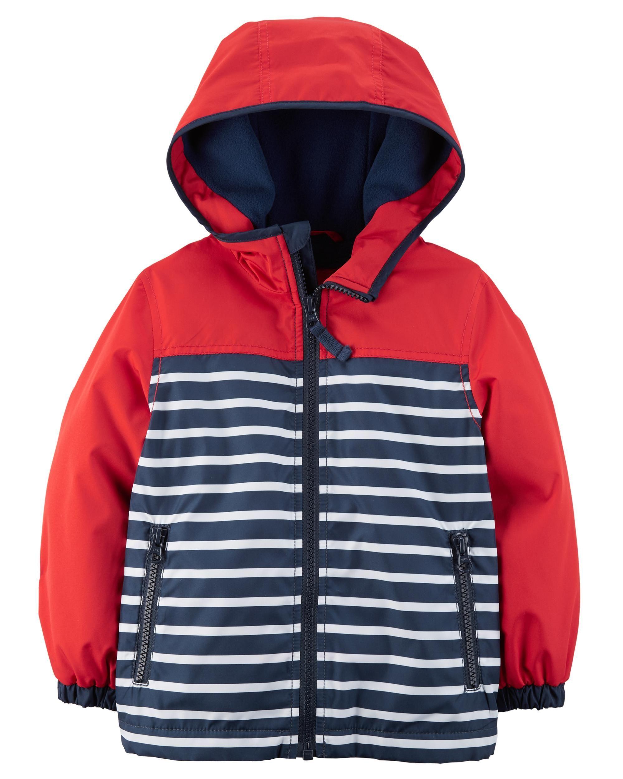 Striped Fleece Lined Jacket Baby Boy Jackets Baby Outerwear Boy Outerwear [ 2500 x 2000 Pixel ]