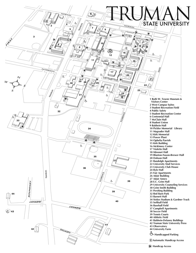 Truman State University Campus Map Yay Now I Know My Way Around