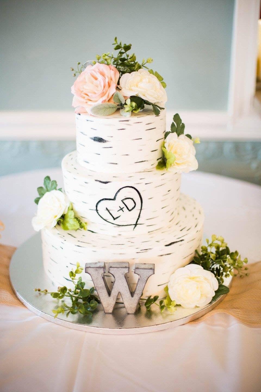 Birch Bark Wedding Cake All Ercream No Fondant