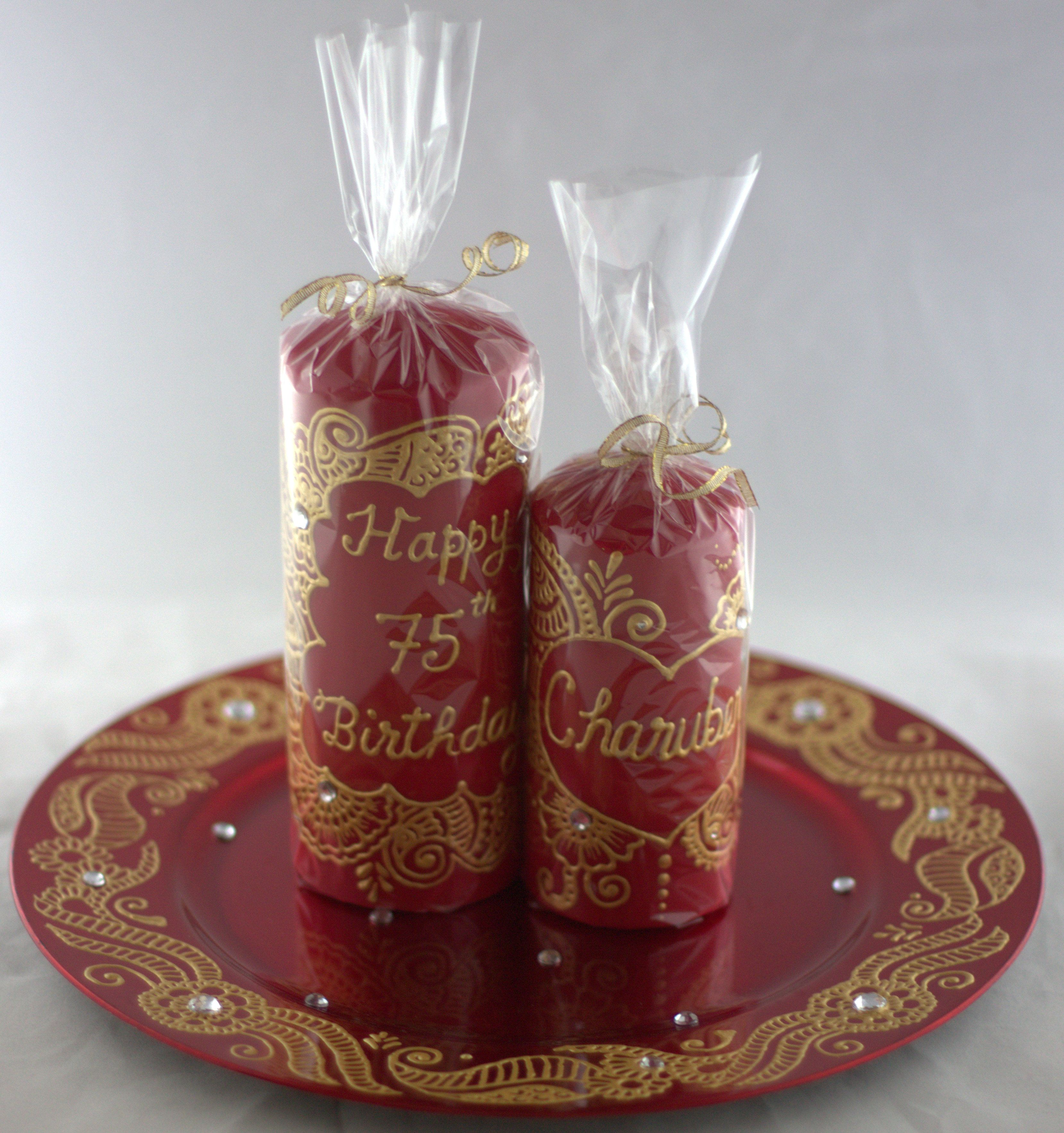 Henna Candle Gift Set Henna Harmony Candles And Plates Candles