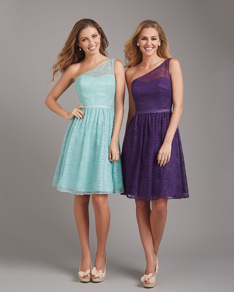 Allure Bridesmaids STYLE: 1350 Lovely lace overlay makes this one ...
