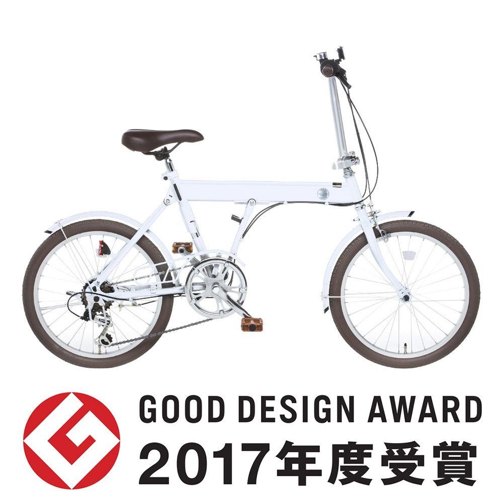 全国配送 折りたたみ自転車 Slike スライク 外装6段 20インチ ホワイト アイデア 商品 折りたたみ自転車 折りたたみ