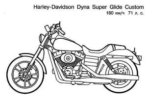 Vintage Harley Davidson Motorcycle Coloring Page Harley Davidson