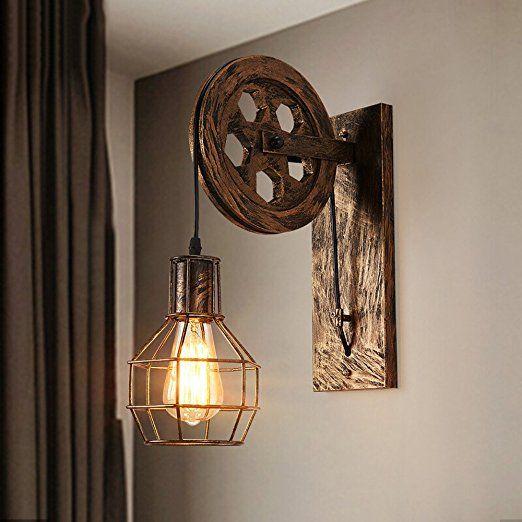 Lampe Murale à Rétro Rétro Industriel Lampe élévatrice à Personnalité  Créative Lampe Murale Ajustable Hauteur Cage