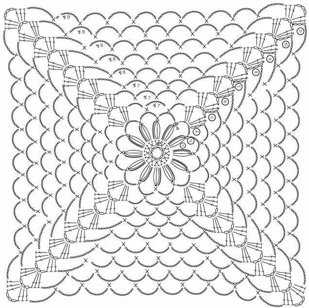 Häkelmuster Fundgrube: Ponchos girasole 2 | Ganchillo | Pinterest ...