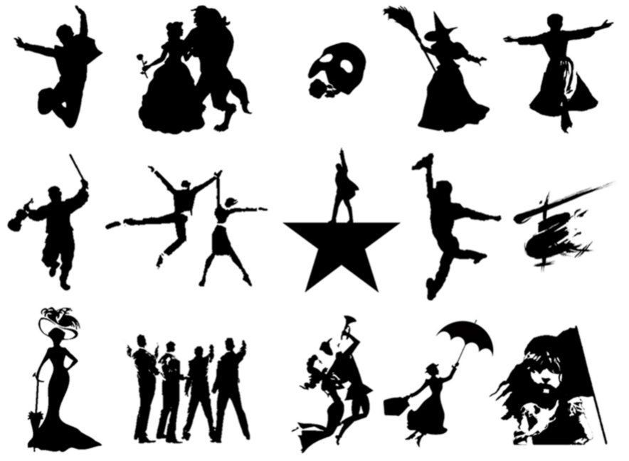 Can you match each of these silhouettes to the Broadway