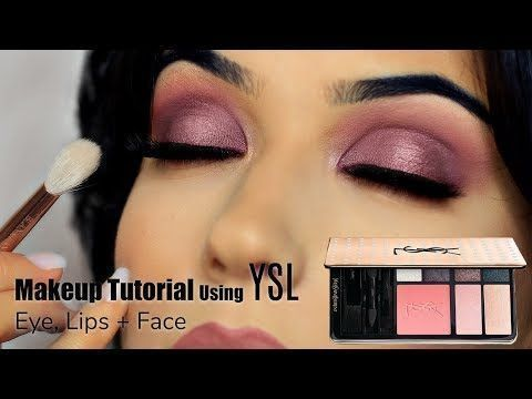 Quick Easy Rose Glam Makeup Look | Using YSL Palette | TheMakeupChair - YouTube ...,  #Easy #...