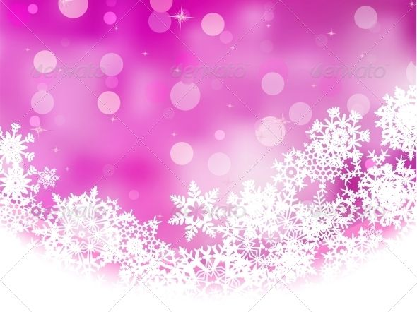Pink Background With Snowflakes Pink Background Pink Snowflakes