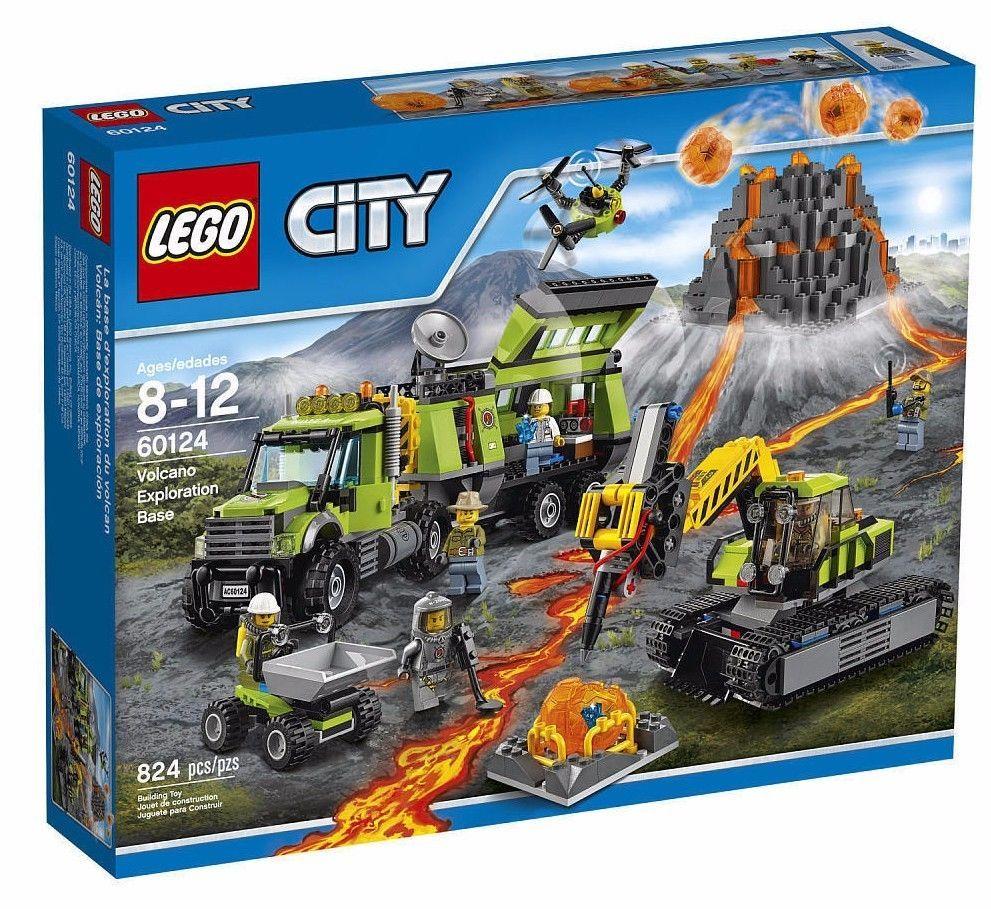 Lego City Volcano Exploration Base 60124 Set New Lego Toys Gifts Lego City Lego City Sets Lego
