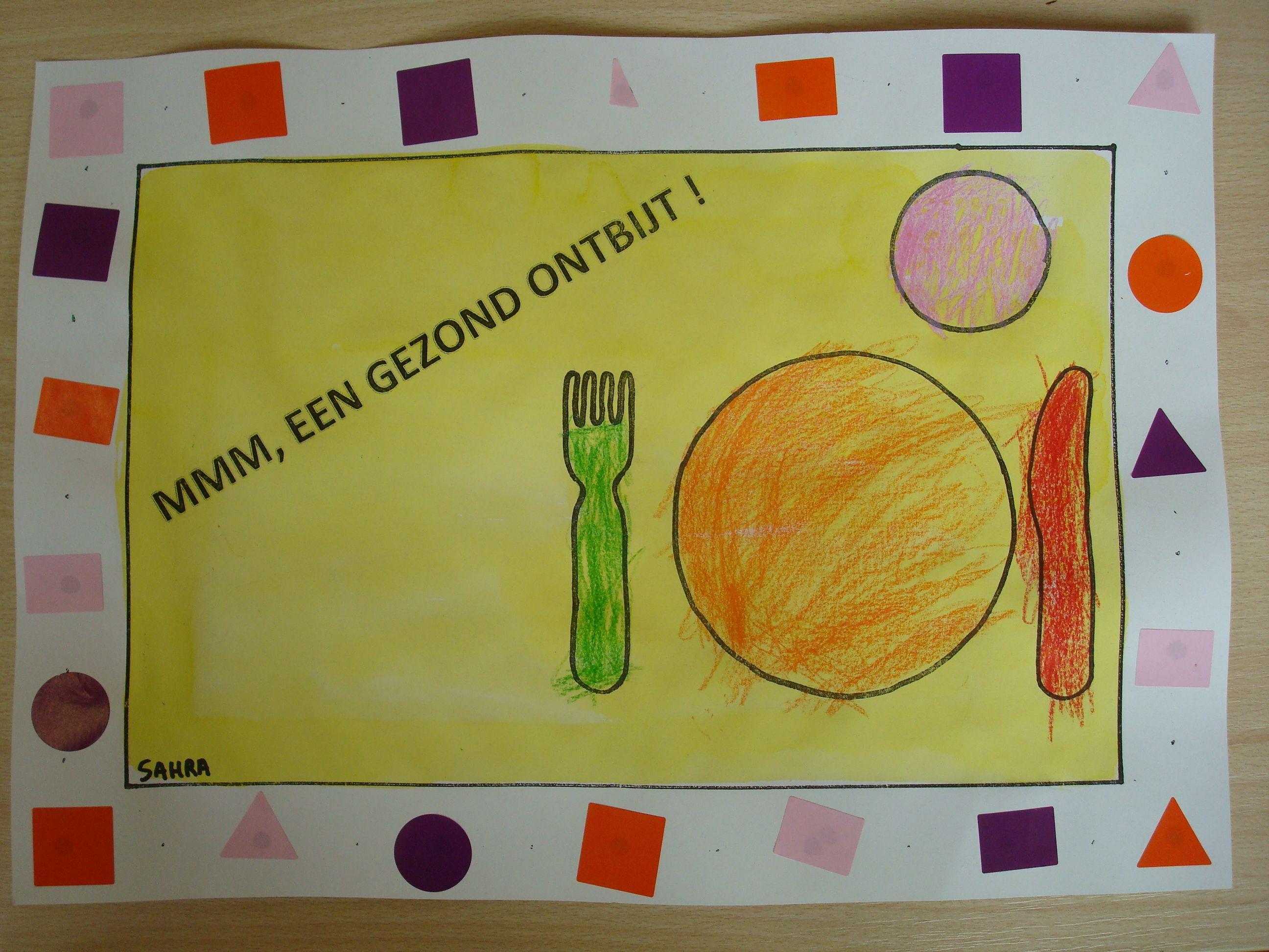 Onderlegger Kleuropdracht En Kleurcode Leggen Gezond Thema Voeding