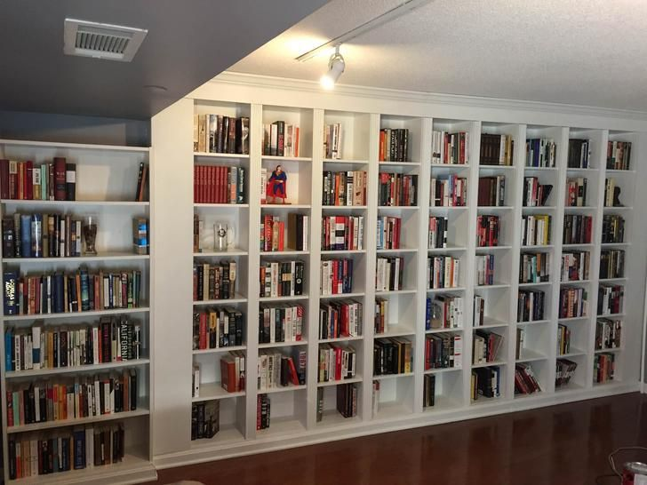 Poor Man S Built In Bookcase With Ikea With Images Built In