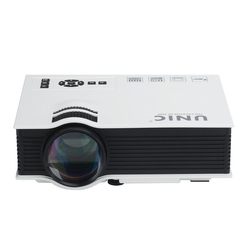 LCD Portable Home Cinema Projector Ocular-View - 800 Lumen 800:1 Contrast Ratio HDMI USB SD Card AV