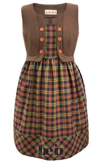 Платье в клетку | платье | Платья, Зеленое платье и Платье ... Тартан Платье
