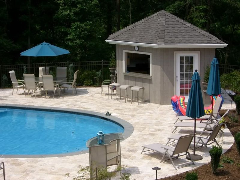 Small 10x20 Pool House Plans Pool Houses Pool Ideas