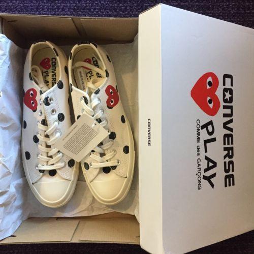 Details about Converse x Comme Des Garcons CDG Play Hi Cream White ... 7df4e415a