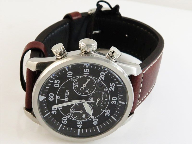 Watches Citizenwatch Ecodrive Model No Ca4210 24emovement Eco Drive B620functions Date 1 5 Second Chronograph Brown Leather Strap Citizen Watch Leather