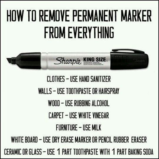 how to clean permanent marker