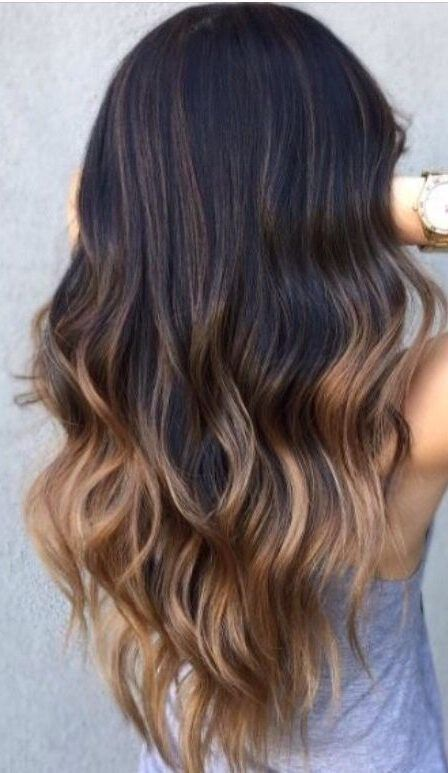 45 Farbideen für langes Haar, dunkelbraun bis hellbraun # dunkelbraun # …
