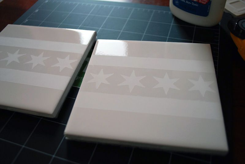 Make Your Own Coasters With Ceramic Tiles And Etching