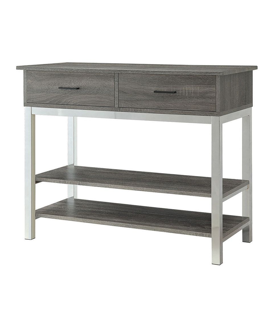 Astounding Another Great Find On Zulily Distressed Gray Console Table Short Links Chair Design For Home Short Linksinfo