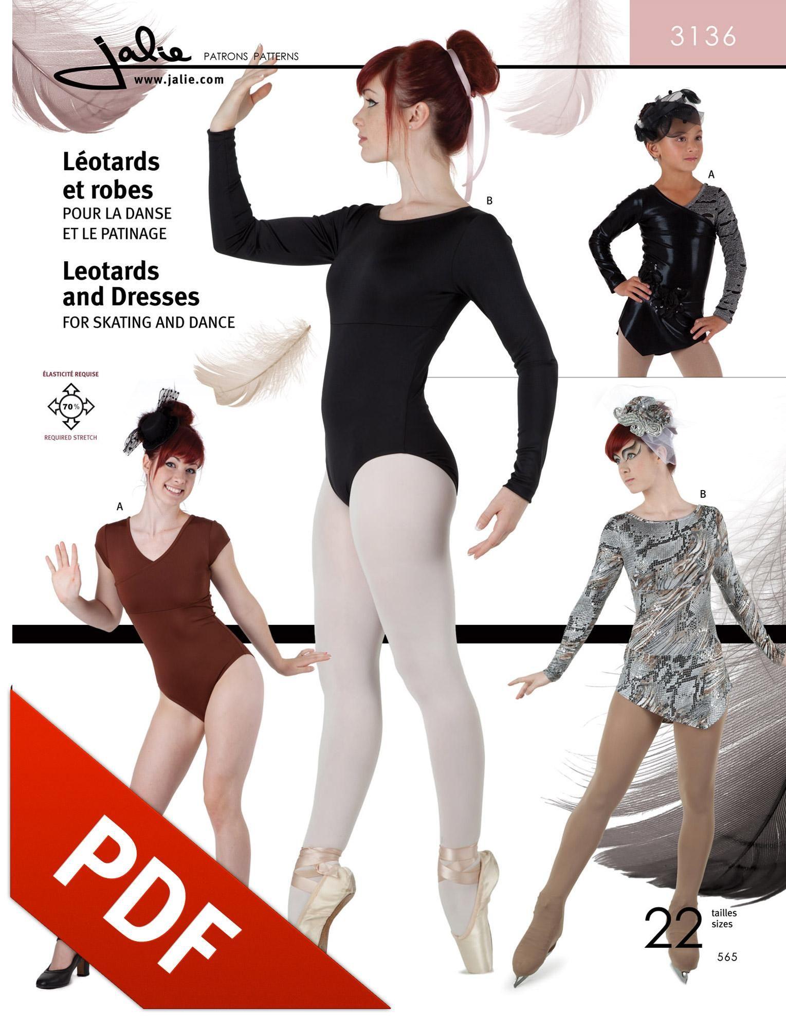 Jalie 3136 - Dance Leotard and Skating Dress PDF Pattern. Video ...