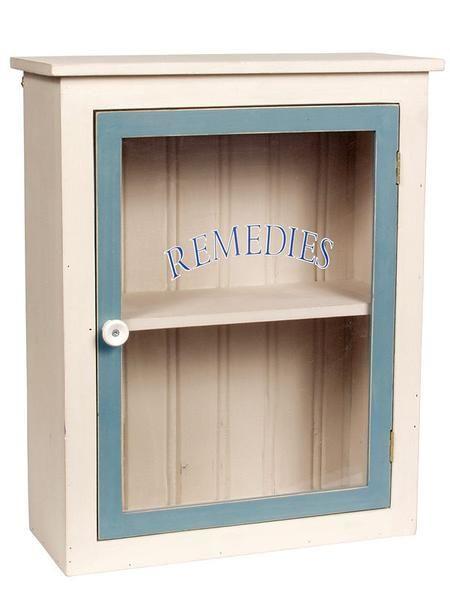 Vintage Wooden Medicine Cabinet Bathroom Medicine