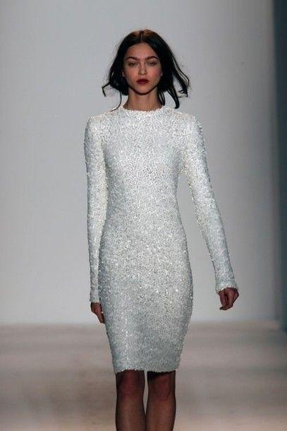 24++ Sequins white dress info