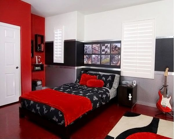 Modern Bedrooms For Kids Painting Amusing Kids Room Music Lovers Boys Bedroom Decoration Theme With Red . Design Ideas