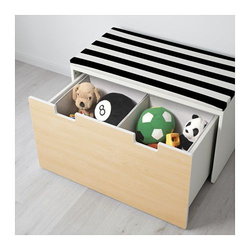 STUVA Storage bench, white, birch | Abedul, Bancos y Blanco